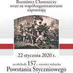 Zaproszenie na obchody 157. rocznicy wybuchu Powstania Styczniowego w Choroszczy
